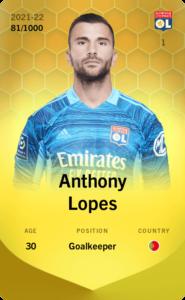 アントニー・ロペスのリミテッドカード